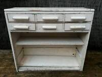 Vintage wooden unit with drawers