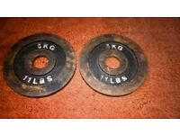2 x 5kg Olympic Weight Plates