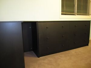Ikea BLACK DOUBLE DRESSER
