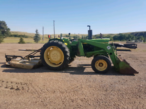 "John deere 1830 tractor with 60"" mower"