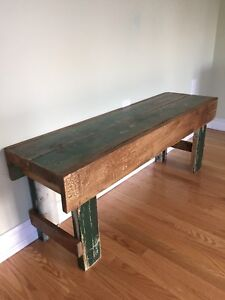 Rustic Primitive Wood Bench - Coffee Table