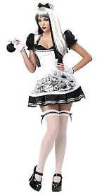 DARK ALICE IN WONDERLAND FANCY DRESS OUTFIT SIZE 8/10 PARTY ALSO HAVE WIG FOR SALE