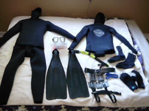 Selling Freediving gear package, barely used
