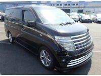 NISSAN ELGRAND RIDER S 2004/7 3.5 V6 AUTO HIGH GRADE GENUINE KM UK REGISTERED
