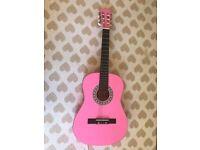 Acoustic Pink Guitar