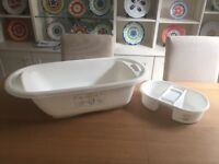 Mothercare baby bath with top and tail tub