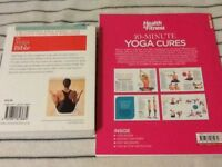 The yoga bible and ten min yoga cures