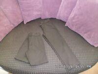 3 x boys school trousers in black age 9yrs