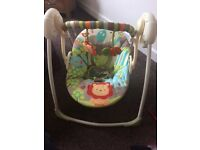 Baby swing with 5 different speeds brought new a few months ago for £60 so like new
