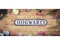 Brand New Large 15cm x 80cm vintage rustic Hogwarts Road Sign (Classic)