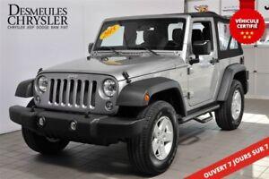 2015 Jeep Wrangler SPORT**MANUEL**BAS KM**