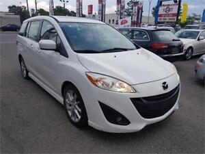 2012 Mazda Mazda5 GT, TOIT, CUIR, AUTO, DVD, 7 PLACE, A/C, 2.5L