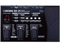 As new Boss ME-25 Multi Effects Pedal with power supply