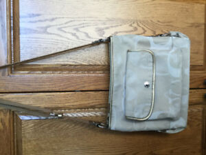 Coach Handbag - beige canvas