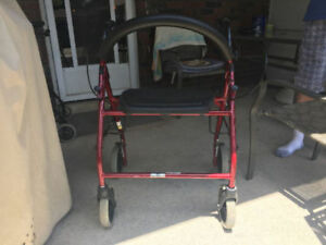 EXTRA LARGE HEAVY DUTY WALKER WITH DUAL LOCKING BRAKES