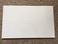 White wall tiles 25 x 40cm
