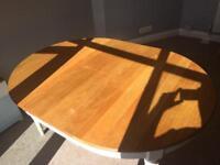 Bespoke hand-made Oak dining table.