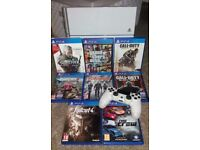 Ps4 console with 8 games