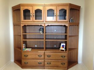 4pc shelf with drawers $100 OBO