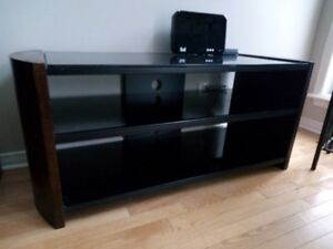 Excellent Solid Wood and Glass TV Stand