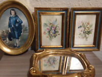 Collection of Vintage/Antique Florentine/Italian Wood Frames and Mirror