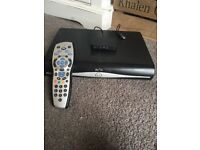 Sky+HD Box with mini wireless connector and remote