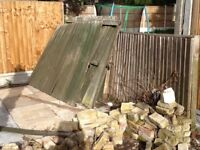 Used fence panels, repairable and reusable