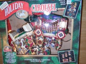 Carousel with 4 Moving Horses