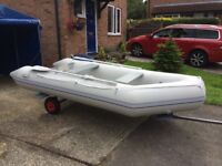 Inflatable Boat / Rib 3.2 metre with Honda 5 HP Outboard, Launching trailer and full equipment
