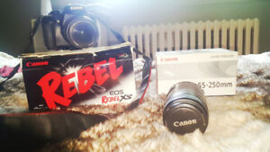 Canon rebel xs camera bundle with lens