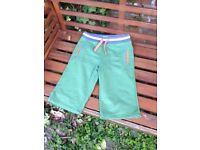 Boden Boys Green shorts age 10