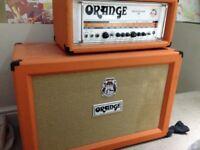 Orange Rockerverb 100 with Orange PPC212OB 2x12 Speaker Cabine