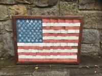 One off original 3D art piece American Flag