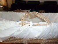 Moses basket with mattress was £65 new now £10 only