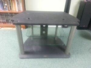 Sony Large TV stand/table with glass shelves