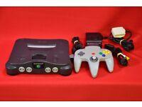 Nintendo 64 N64 Smoke Grey Console £100