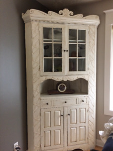 Antique Corner Hutch