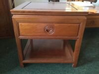 Side Table Solid a Tropical Hardwood with drawer