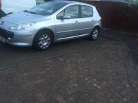 Peugeout 307 One year mot. Low miles 79854