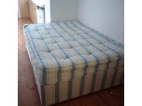 standard double bed with mattress all in very good condition can deliver
