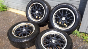 Winter tires on rims: 235/55/17 Conti Extreme Winter Contact