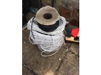Three large rolls of cat6 Ethernet cable 100s of metres plus one roll of digital grade coaxial cable