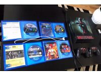 PS4 500GB WITH 9 GAMES 2 PADS AND BLUETOOTH HEADSET
