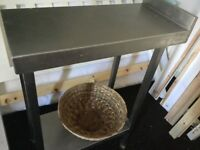 Small stainless steel table use as filler spacer or fryer tableSOLD