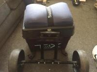 fishing seat box and wheel kit by sundridge