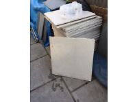 60 Porcelain Square Kitchen/Bathroom Tiles - 60cm by 60cm - £9 each or £120 for all sixty!!