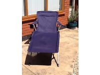 2 x BLUE UNUSED SUN LOUNGERS - PERFECT CONDITION