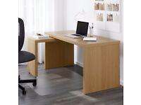 Ikea Malm Desk with pull out panel - Oak veneer