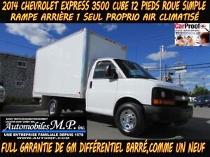 2014 Chevrolet Express 3500 CUBE 12 PIEDS ROUE SIMPLE 1 SEUL PRO
