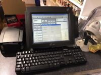 Full EPOS Till System including thermal printer, barcode reader, cash drawer and touch screen